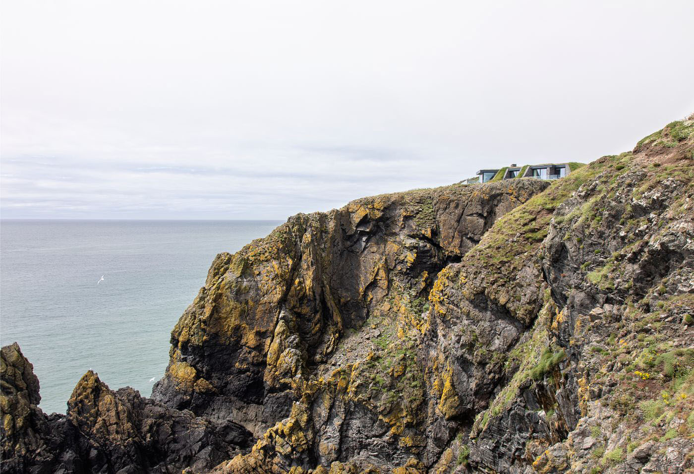 the property is then an expanse of glass overlooking the Irish Sea.